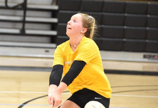 Mary Baldwin sophomore, and former Riverheads standout, Madison Cash is hoping for a breakout season for the Squirrels' volleyball team this year.