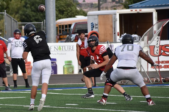 Tyler Skidmore (6) took snaps for SUU last season, and could see some playing time this season.