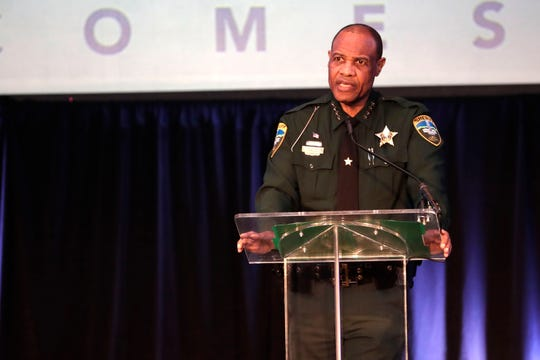Leon County Sheriff Walt McNeil address the audience at the United Way of the Big Bend Kickoff Lunch Tuesday, Aug. 27, 2019.