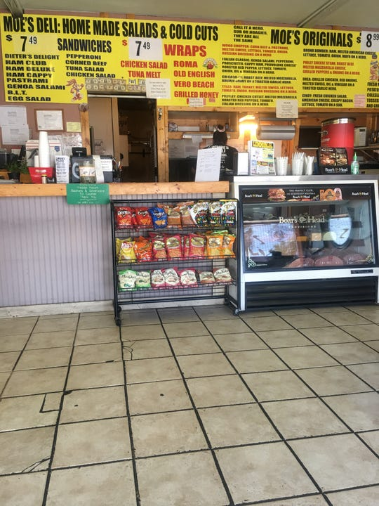 Inside Moe's Family Deli, expect to find a standard-looking neighborhood take-out eatery.