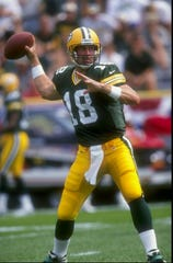 Doug Pederson, then of the Green Bay Packers, during a game against the Detroit Lions in Green Bay, Wisconsin on Sept. 6, 1998.
