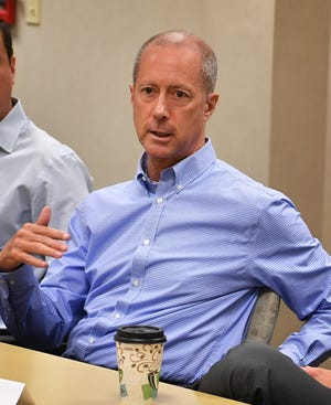 U.S. Congressman Mac Thornberry met with a group of young business professionals Aug. 27, 2019, at First Bank in Wichita Falls.