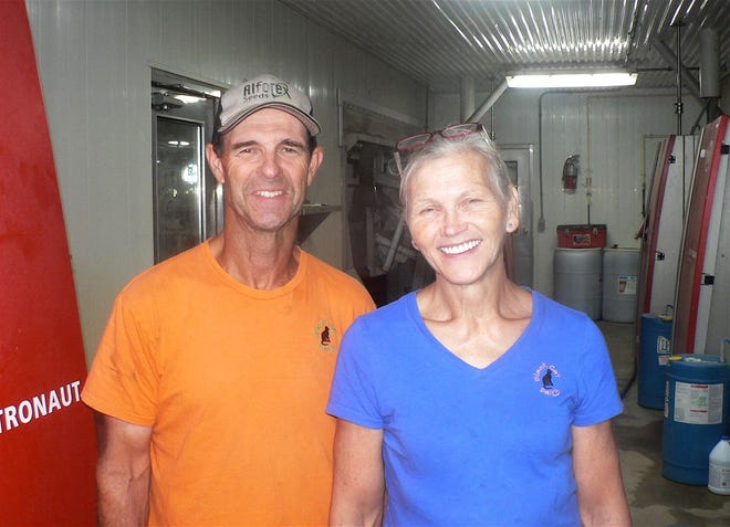 Tom and Jennifer Leedle welcomed guests on a sunny Saturday to their Black Cat Dairy at Lake Geneva.