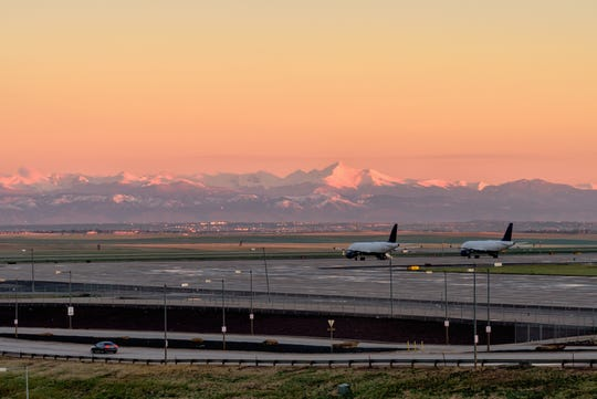 Denver's airport is a large connection hub for flights in the West.