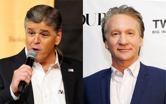 """Sean Hannity slammed Bill Maher over comments about being """"glad"""" David Koch had died."""