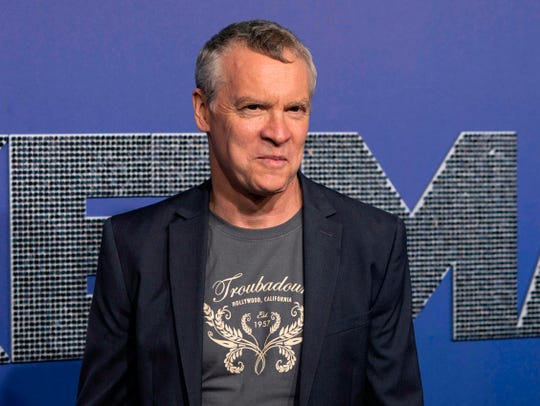 """Tate Donovan, sans wig, at the premiere of """"Rocketman"""" on May 29. Yeah, he's in the movie."""