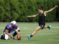Carli Lloyd says she's 'seriously considering' kicking in NFL, but not until 2020 season