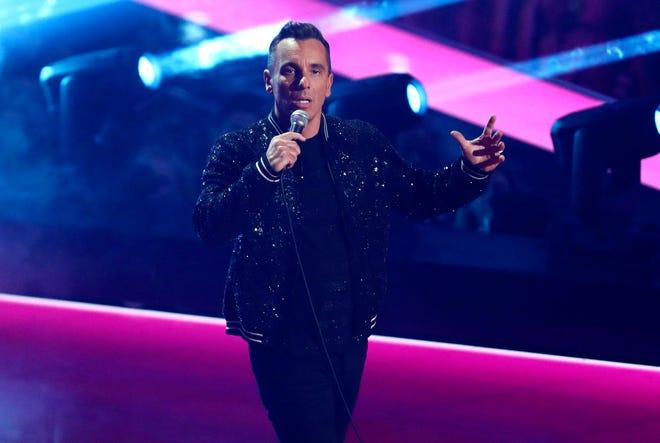 Host Sebastian Maniscalco speaks at the MTV Video Music Awards.