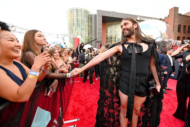 """Jonathan Van Ness attends the 2019 MTV Video Music Awards. Van Ness and the rest of the """"Queer Eye"""" cast and crew arrived in Austin in 2020, not long before the pandemic shut down production on the show's next season. Van Ness stayed in Austin (and they're filming again) and used his downtime to get to know the area (safely) and to develop his appreciation for art."""