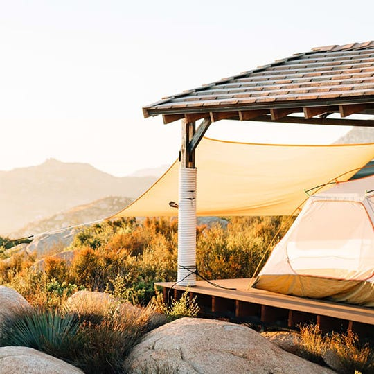 Hipcamp helps you find open camping spots, or places to camp on people's private property.