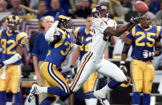 Jake Reed was part of a Vikings team that scored a then-record 556 points in 1998.