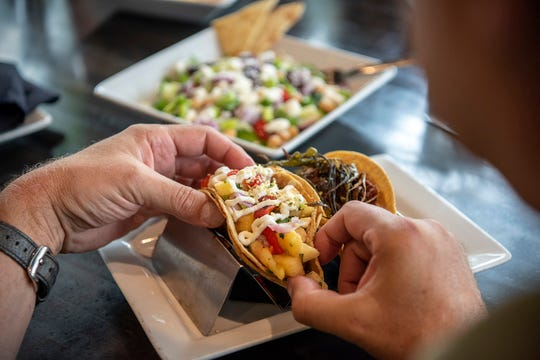 Fort Wayne's culinary scene is as vibrant as its public art. Take the Hoppy Gnome, for instance, where you can find local ingredients transformed into tantalizing tacos, such as the Bob Marley made with smoked jerk chicken, hemp seeds and pineapple salsa. Meals go great with a hometown GnomeTown Brewing Co. beer.