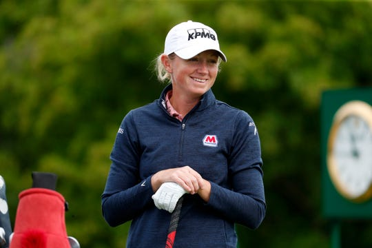 Stacy Lewis, shown here during the 2019 KPMG Women's PGA Championship, made her Solheim Cup debut in Ireland in 2011.