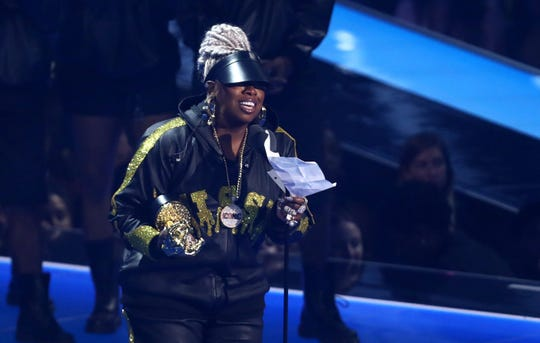 Missy Elliott accepts the Video Vanguard award at the MTV Video Music Awards.