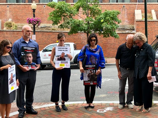 About 20 people stood outside the Embassy of South Sudan in D.C. to honor Christopher Allen's legacy with a minute of silence.
