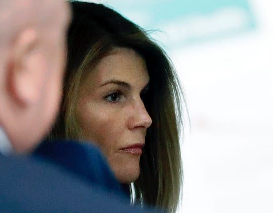 Lori Loughlin arriving at federal court Aug. 27, 2019, in Boston, for a hearing the college admissions bribery scandal.