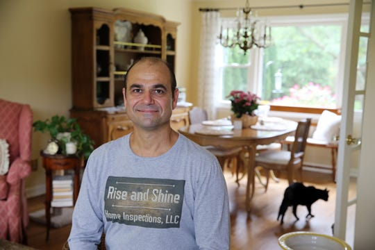 Joseph Napoli, owner of Rise and Shine Home Inspections LLC, a Middletown-based business that performs home inspections, talks about his business at his home in Middletown, NJ Wednesday, August 28, 2019.