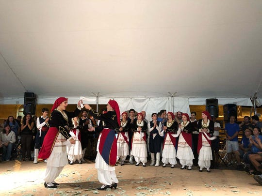 Dancers perform at a past Greek festival at St. Barbara Greek Orthodox Church in Toms River.