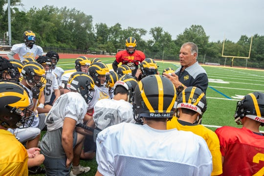 St. John Vianney held a football practice Wednesday, August 28, 2019, at their school in Holmdel. /Russ DeSantis for the Asbury Park Press