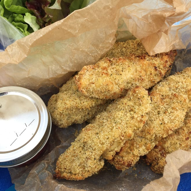 These chicken strips can be served with your favorite dipping sauce or enjoyed plain.