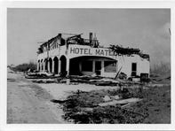 The Hotel Matecumbe following the Labor Day 1935 Hurricane.
