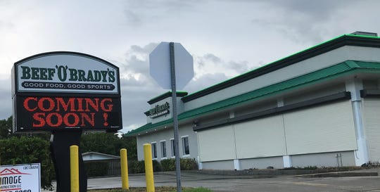 Beef O'Brady's on Dairy Road in West Melbourne should be open by mid-September.