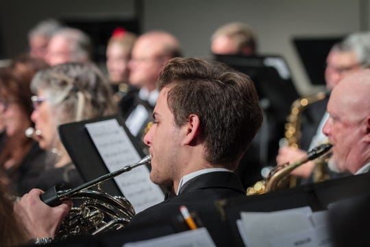 Paul Rigolini on French horn is one of the Community Band of Brevard's musicians who will open the group's35th performing season with 'Big Band Extravaganza' Sept. 8 in Merritt Island.