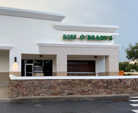 Beef O'Brady's in Viera should be reopening by mid-September.
