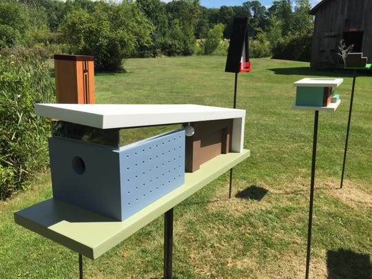 """A display of birdhouses by Winooski woodworker Steve Hadeka is part of the """"Structures"""" exhibit on display at the Rokeby Museum in Ferrisburgh through Oct. 27."""