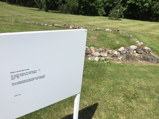 """The conceptual-art piece """"Build a Dotted Line House"""" by Yoko Ono is on the grounds of the Rokeby Museum in Ferrisburgh through Oct. 27."""
