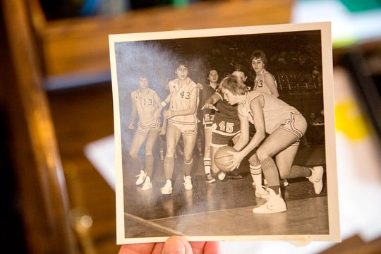 Marie Kocurek-Montgomery played on the Wayland Baptist Flying Queens basketball team. She and her teammates will be inducted into the Naismith Hall of Fame.