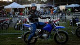 Best with sound on.  Enquirer entertainment editor tries out flat track motorcycle racing for the first time at the Lawrenceburg Motorcycle Speedway.