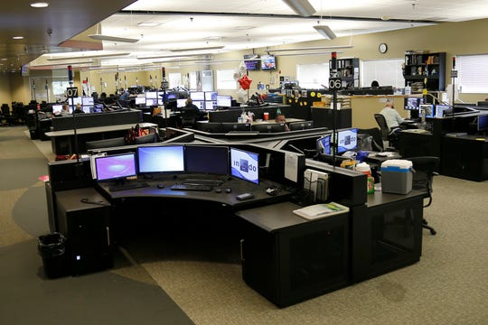The 911 call center at the Cincinnati Hamilton County Regional Operations Center in the South Fairmount neighborhood of Cincinnati on Tuesday, Sept. 11, 2018.