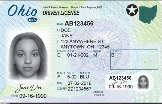 Ohio new driver's license