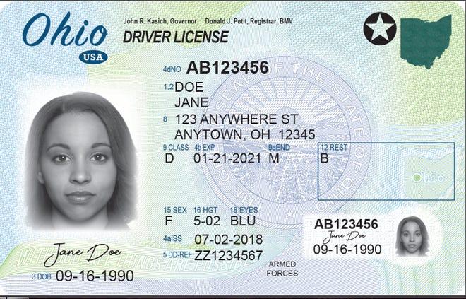 Ohio new driver's license