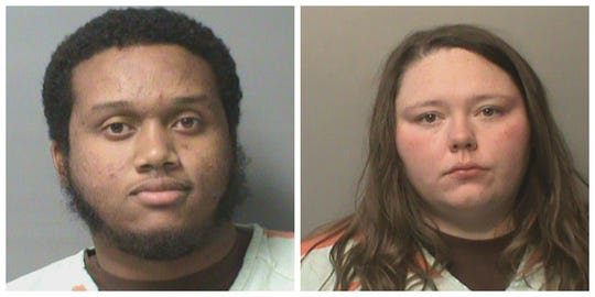 Corey Allen Brown, 21, and Charity Renee Remer, 24, shown in their Polk County Jail mugshots.