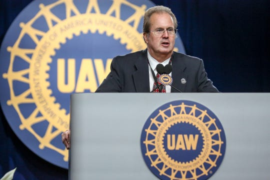 Gary Jones is elected the new president of the United Automobile Workers  labor union, during the UAW's 37th constitutional convention at Cobo Center in Detroit, on Thursday, June 14, 2018.