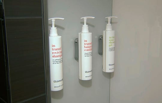 Bottles of shampoo, conditioner and shower gel  will replace smaller bottles  at Marriott's headquarters.