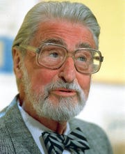 This April 3, 1987 file photo shows American author, artist and publisher Theodor Seuss Geisel, known as Dr. Seuss in Dallas, Texas.