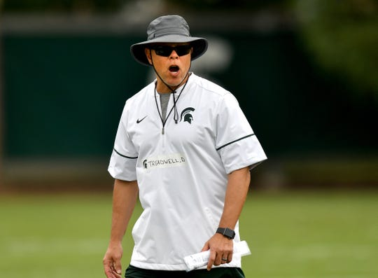 Don Treadwell is coaching Michigan State's receivers for the third time in his coaching career, which dates to the 1980s.