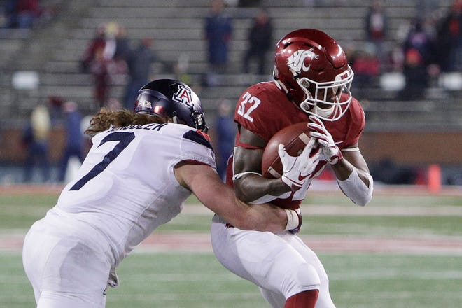 The Lions signed former Washington State running back James Williams (32) on Wednesday.