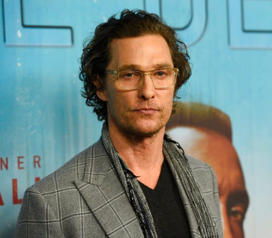 """In this Jan. 10, 2019, file photo, executive producer Matthew McConaughey arrives at the Los Angeles premiere of """"True Detective"""" season 3 at the Directors Guild of America. The Oscar-winning actor will join the University of Texas as a professor who this fall will teach in the university's Department of Radio-Television-Film. McConaughey has been a visiting instructor at the flagship campus in Austin since 2015 and the university said in a statement Wednesday, Aug. 28, 2019, that the appointment recognizes his """"outstanding work as a teacher and mentor."""""""