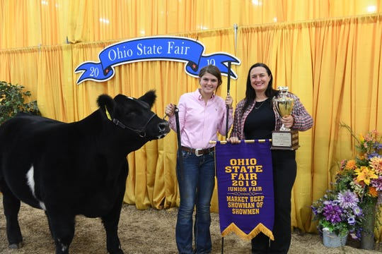 Caroline Blay, Portage County, was selected as the Market Beef Supreme Showman.