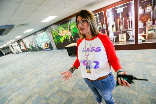 Melissa Robery is the principal and a big part of the turnaround. She had a trophy case moved to the entryway from the second floor and student artwork on the wall making the school feel like it belongs to the students. East Lee County High School is no longer in differentiated accountability thanks to a complete shift in the school's culture on academics and student welfare. The work that's be done to put the school - and its students - back on the path to success. Two weeks before school started teacher reported back to school for prep and learning.