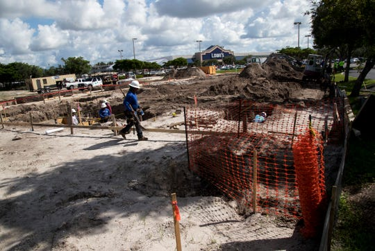 A new Firestone Complete Auto Center is being built near Lowe's at the corner of Pine Island Road and Del Prado Boulevard in Cape Coral.