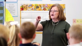 Notre Dame of De Pere first-grade teacher Jaculin Cramer has taught kids for 50 years. This year, she has seven students whose parents she also taught.