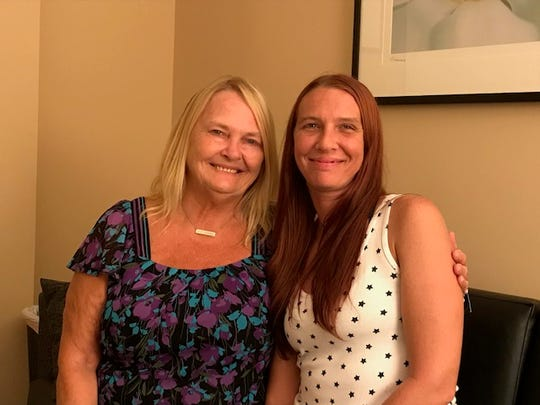 FAVOR Greenville recovery coach Sue Foster with Brooke Long at FAVOR's offices. 8/26/19