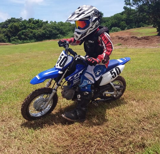 EJ Larance took fifth in the 50cc Kids Minibike Aug. 25 in Round 5 of the 2019 Monster Energy Guam Motocross Championships at the Guam International Raceway in Yigo.