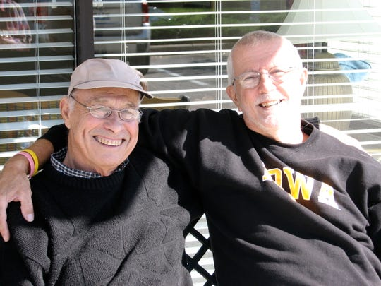 Richard Dean, left, kidney recipient, and Denny Behm, donor