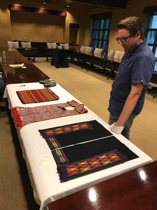 Scott Shoemaker, curator of Native American art, history and culture, talks about a few of the 400-plus pieces of Native art from the Great Lakes region. The Eiteljorg Museum will put them on display in a few years.